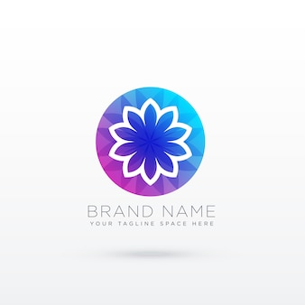 Lebendige Blume Logo Design-Konzept