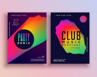 Lebendige Musikparty Flyer Vorlage Design
