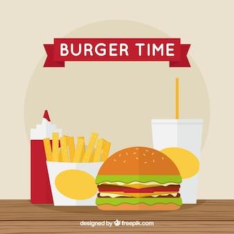 Leckeres Fast-Food-Menü