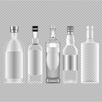 Leere Flaschen von Alkohol