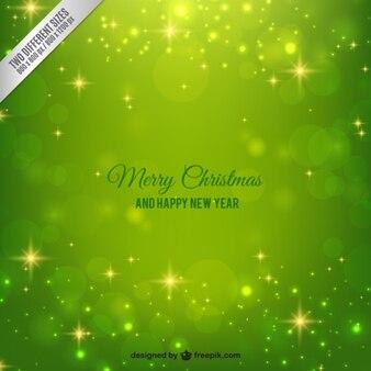 Leuchtend grüne Weihnachten Hintergrund