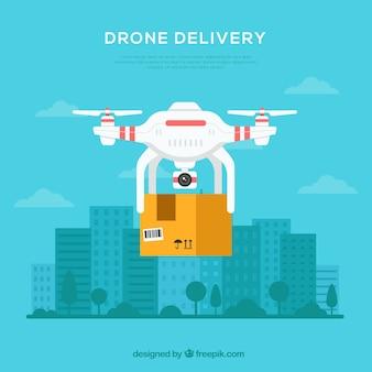 Lieferung Drohne in der Stadt