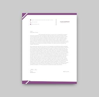 Lila Details Briefkopf-Vorlage