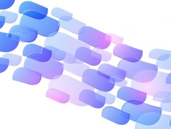 Lila Formen auf weißem Hintergrund