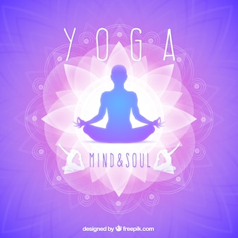 Lila silhouette Yoga
