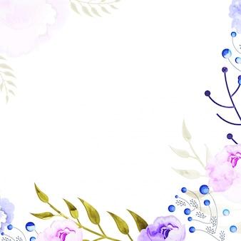 Lila und rosa Aquarell Blumen dekoriert Hintergrund.