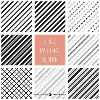 Linien Muster Bündel