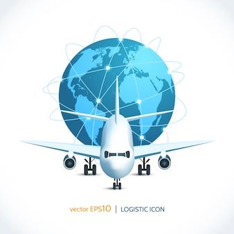 Logistik-Symbol Flugzeug