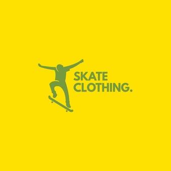 Logo-Skate auf einem gelben Hintergrund