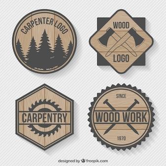 Logos Packung von Holz Tischlerei