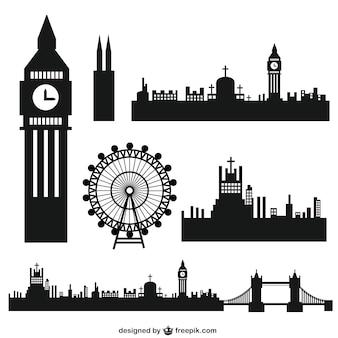 London Stadt Silhouetten
