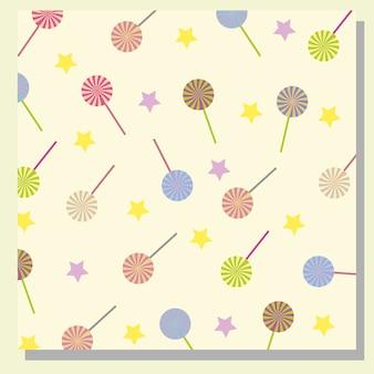 Lutscher und Sterne Muster Hintergrund