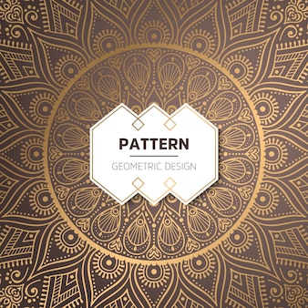 Luxus Gold Hintergrund mit Mandala Ornament