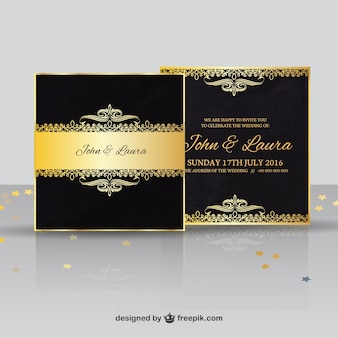 Luxus Hochzeitseinladung