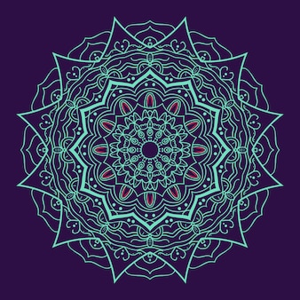 Luxus mandalawith lila Hintergrund