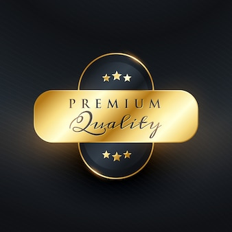 Luxus-Premium-Qualität Golden Label Design Vektor