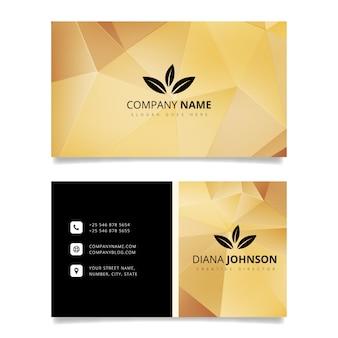 Luxus-Visitenkarte Design