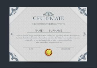 Luxus-Zertifikat Vorlage