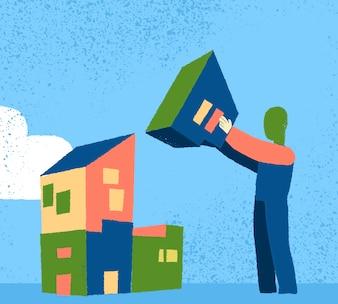 Man Gebäude Häuser
