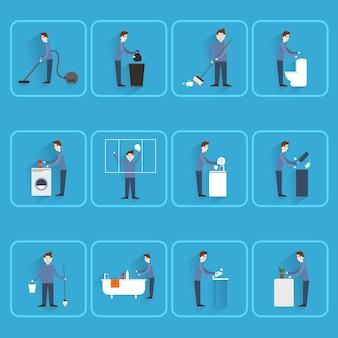 Man tut verschiedenen Aktivitäten