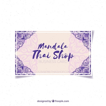 Mandala Aquarellkarte