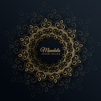 Mandala Ornament Dekoration auf schwarzem Hintergrund