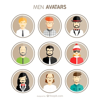 Männer Avatare eingestellt