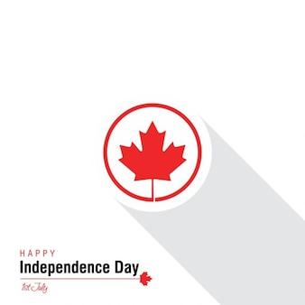 Maple Leaf Label Schatten Karte Unabhängigkeitstag