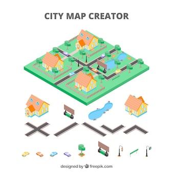 Mapmaker für Städte in isometrischer Ansicht