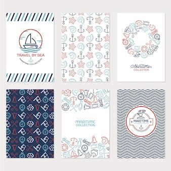 Maritime Elemente Hintergrund Sammlung