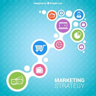 Marketing-Strategie Infografik