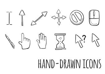 Mausklicksymbole