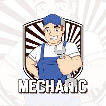 Mechaniker Hintergrund Design