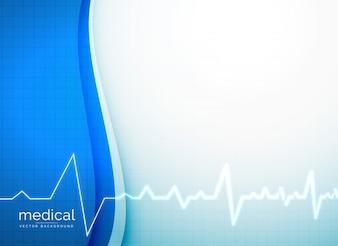 Medizinische Vektor Hintergrund mit Herzschlag Linie
