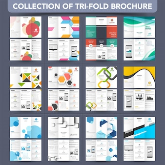 Mega Collection Tri-Fold Broschüre, Broschüre Design.