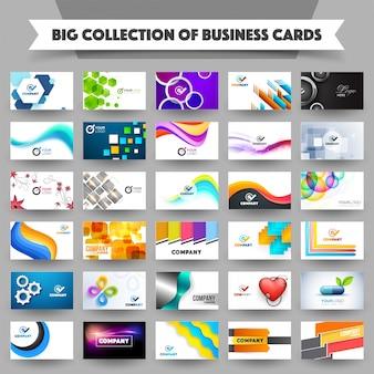 Mega-Sammlung von professionellen Visitenkarten.