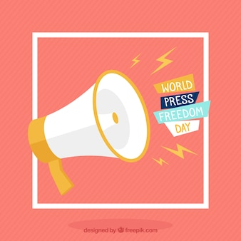 Megaphon Hintergrund für die Welt Presse Freiheit Tag