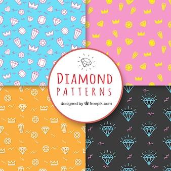 Mehrere Diamant-Muster