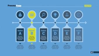 Mehrere Optionen mit Buchstaben Infografik Design
