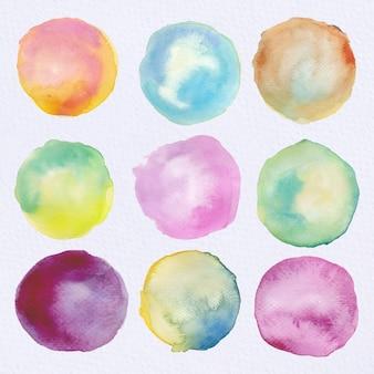 Mehrfarbige Aquarellkreissammlung