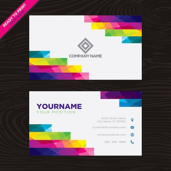 Mehrfarbige geometrische Visitenkarte