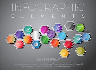 Mehrfarbige infografische Elemente