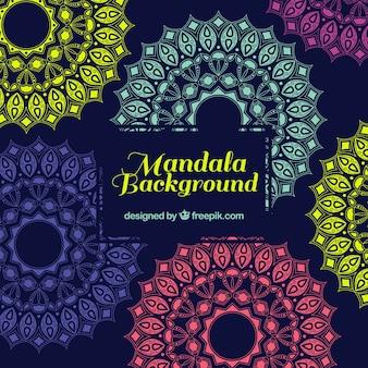 Mehrfarbige Mandala Hintergrund