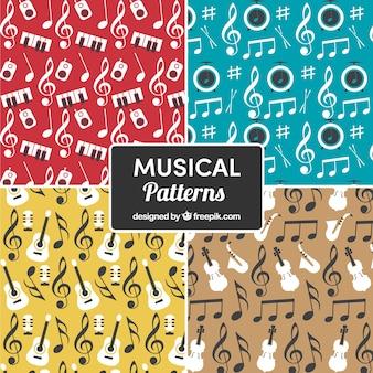 Mehrfarbige musikalische Muster Hintergrund