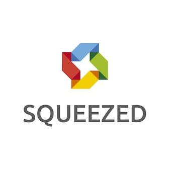 Mehrfarbiges abstraktes Logo