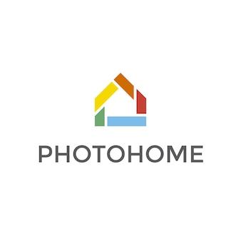 Mehrfarbiges Haus Logo Design