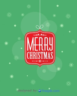 Merry christmas seidenen Faden mit snowfalkes Hintergrund