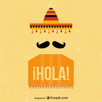 Mexikanische Vintage-Hintergrund