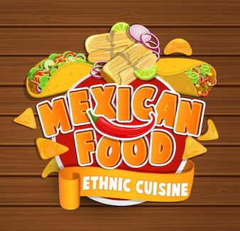 Mexikanisches Nahrungsmittellogo