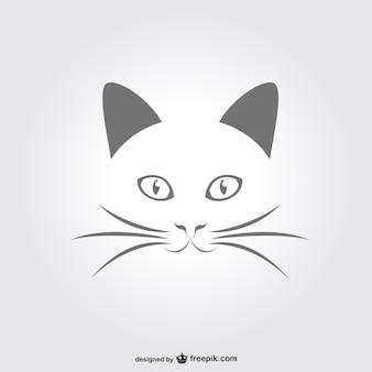 Minimal Katze Porträt Vektor